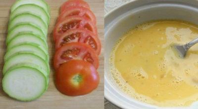 Вкуснейшая запеканка с кабачками и помидорами всего за 30 минут. Ни жира, ни жарки…
