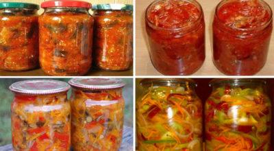 Вкусные овощные салаты на зиму: простые рецепты