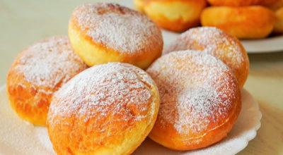 Вкусные пончики на кефире за пятнадцать минут