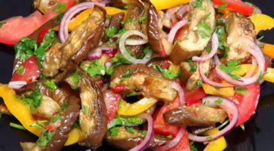 Восхитительный салат из баклажанов: простой, полезный и вкусный