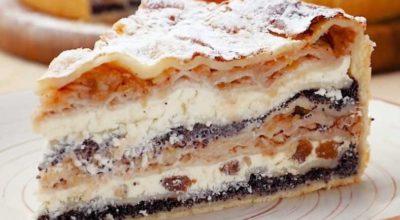 Невероятно вкусный балканский пирог с творогом и яблоками