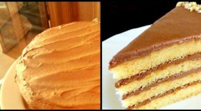 Очень простой, но вкусный бисквитный торт