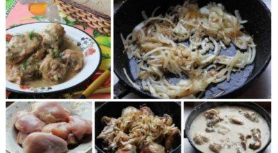 Курочка, приготовленная по этому рецепту, получается очень нежной и сочной, соус потрясающе вкусный и ароматный