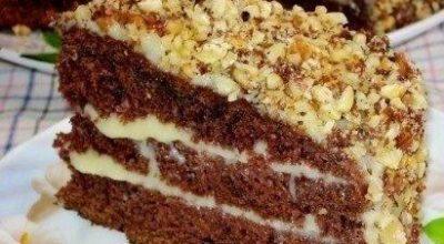 Изумительный шоколадный торт на кефире «Фантастика»