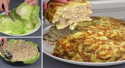 Как вкусно приготовить капустную слоенку в духовке