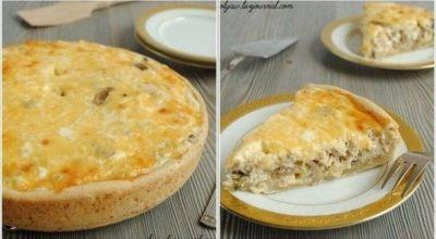 Лоранский пирог с курицей и грибами. Очень простой и вкусный