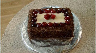 Мега вкусный торт «Черный лес» за 15 минут