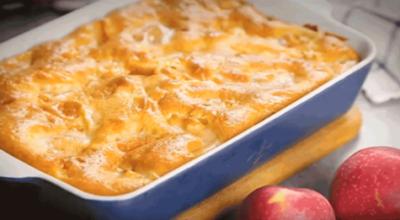 Воздушный, нежный пирог с яблоками и со сметаной (шарлотка)