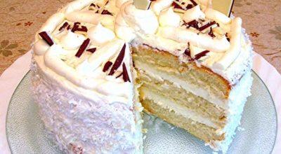 Оригинальный торт с кремом «Пломбир»