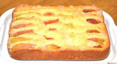 Пирог с фруктами за 10 минут + время на выпечку
