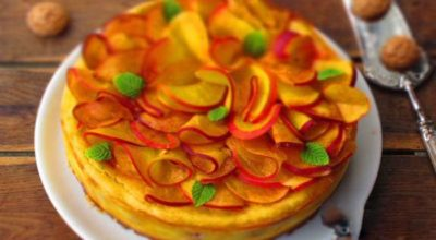 Пирог с персиками — 2 рецепта красивой и вкусной выпечки