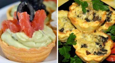Праздничная закуска в тарталетках: отличная подборка простых и оригинальных рецептов