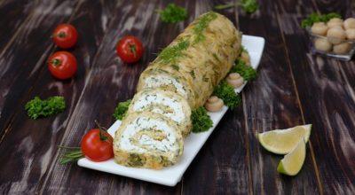 Рулет из кабачков с творогом и сыром: вкусная и полезная закуска