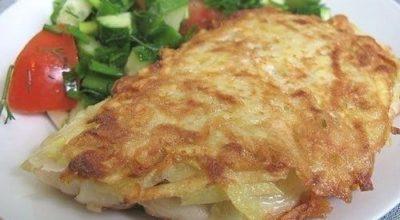 Рыба в необычной картофельной корочке