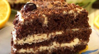 Невероятно вкусный шоколадный торт со сметанным кремом