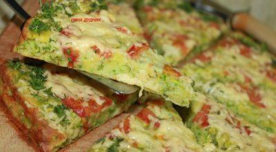 Сочная и нежная «Пицца из кабачка»