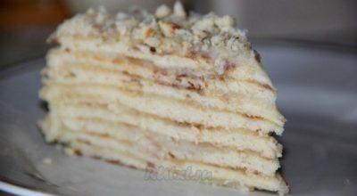 Торт «Минутка» без выпечки. Быстро готовится и также быстро съедается