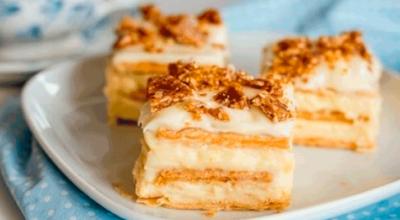 Нежный творожный тортик из печенья без выпечки за считанные минуты