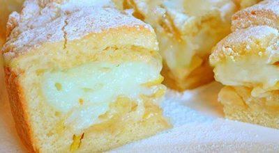 Обалденный яблочный пирог с нежнейшим заварным кремом