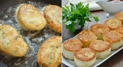 Вкусные горячие рулетики из лаваша с картофелем и грибами: закуска, которую расхваливают больше, чем мясо