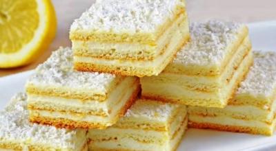 Вкусный и ароматный лимонный пирог