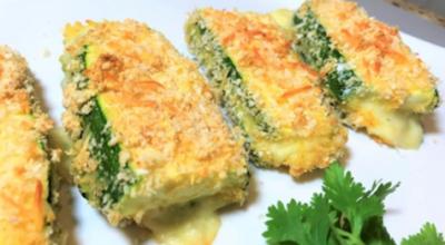 Восхитительно кабачки, запеченные с сыром в духовке