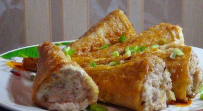 Закуска «Рыбные хвостики»: вот еще один вариант начинки