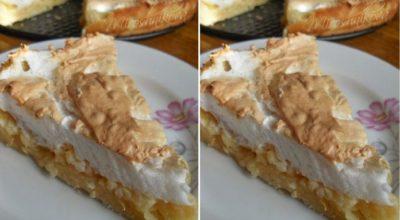 Изумительный яблочный пирог с мягким безе — красивый, вкусный и мягкий