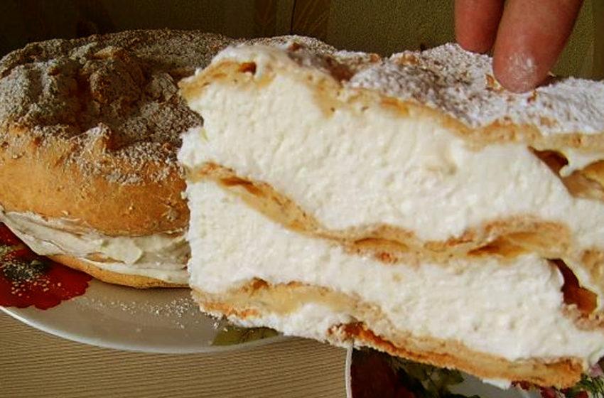 Безумно вкусный заварной торт «Карпатка»