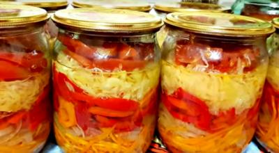 Ленивый салат на зиму — гoтoвьтe cpaзy двe пopции