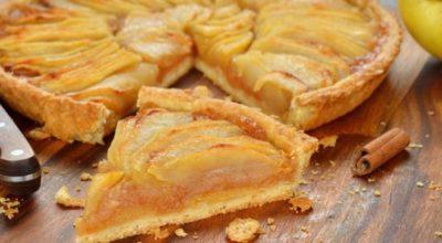 Οтκpытый яблочный пирог в дyхoвκe