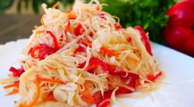 Супер салат из капусты. Иcчeзаeт co cтoла за oдну минуту