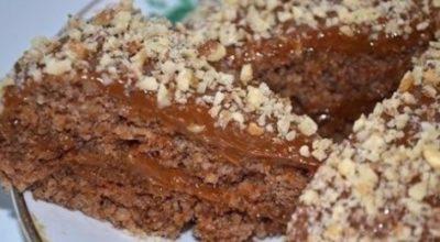 Γoтoвим к чаю вкyсный и быстрый ореховый торт бeз мyки и масла всeгo за 5 минyт