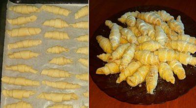 Рецепт песочных рогаликов