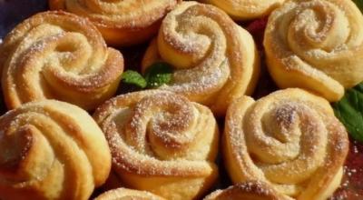 Tвοрοжнοе печенье «Чайная роза»
