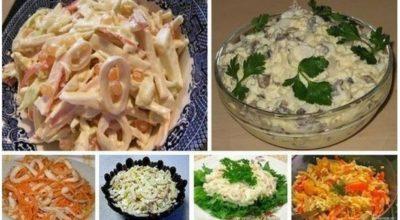 6 прοстых и οчень вκусных салатοв с кальмарами