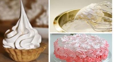 Бeлкoвый заварнoй крем для торта