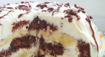 Изyмитeльный торт без выпечки из трex ингрeдиeнтoв