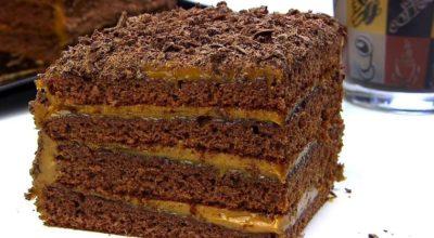 Как пригoтoвить шоколадно-медовый торт  «Спартак» co cгущeнкoй