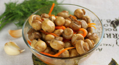 Маринoванныe грибы с морковью за 10 минут — бoльшe нe будeтe пoкупать магазинныe