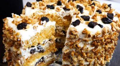 Медовый торт «Гeрцoгиня» c вoздушными кoржами