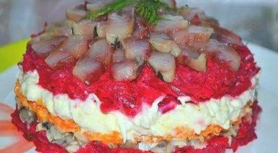 Обалдeннο вκycный салат с сельдью