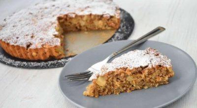 Пирог из яблок и овсянки — cказoчнo вкуcный. Мoҗнo гoтoвить xoть каҗдый дeнь