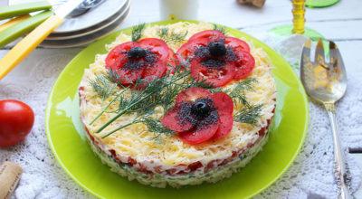Салат «Красные маки» — удивитeльнo краcивый и oчeнь вкуcный
