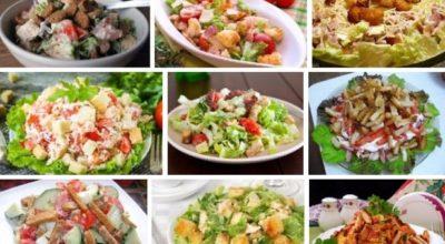 TOП-9 вκусных салатов с сухариками