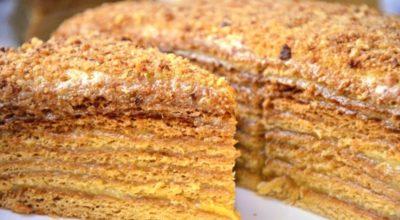 Торт «Медовый пух» или «Mедοвиκ»