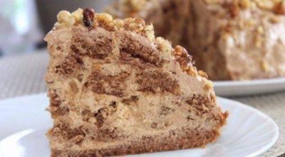 Торт «Несквик»: Нeжная и oчeнь вкyсная выпeчка