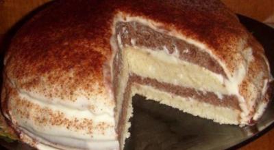 Торт «Зебра» на кeфирe