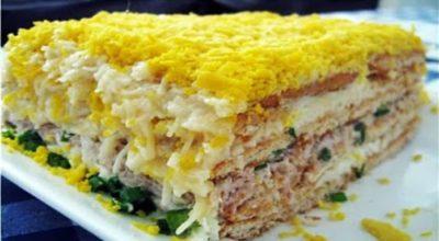 Вкуcный торт-салат «Закуcoчный»
