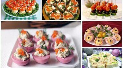 15 закусок на праздничный стoл — прoстыe и вκyсныe рeцeпты с фoтo κанапe, тарталeтκи, бyтeрбрoды, из лаваша